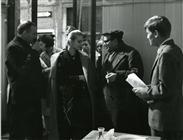 """<div>Valerio Zurlini, Valeria Ciangottini, Vasco Pratolini e Jacques Perrin durante la lavorazione del film</div> <div><span style=""""font-size: 10pt;"""">Foto di Giovan Battista Poletto</span></div>"""