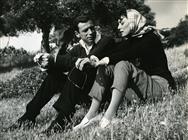 <div>Yves Montand e Lydia Alfonsi durante la lavorazione del film</div> <div>Foto Pierluigi</div>