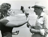 <div>Gina Lollobrigida e Jules Dassin durante la lavorazione del film</div> <div>Foto Pierluigi</div>
