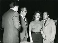"<div><span style=""font-size: 10pt;"">Leopoldo Trieste, Mario Carotenuto, Giovanna Ralli and Alberto Sordi</span></div> <div>Photo by Giovan Battista Poletto</div>"