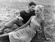 """<div>Steve Reeves e Virna Lisi durante la lavorazione del film</div> <div><span style=""""font-size: 10pt;"""">Foto di Giovan Battista Poletto</span></div>"""