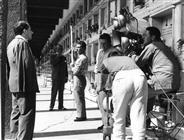 """<div>Franco Sportelli, Salvo Randone e Elio Petri durante la lavorazione del film</div> <div><span style=""""font-size: 10pt;"""">Foto di Giovan Battista Poletto</span></div>"""