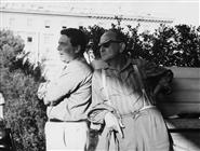 """<div>Elio Petri e Salvo Randone durante la lavorazione del film</div> <div><span style=""""font-size: 10pt;"""">Foto di Giovan Battista Poletto</span></div>"""