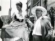 Sophia Loren durante la lavorazione del film