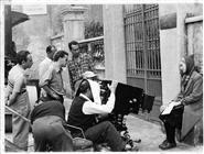 Giuseppe De Santis, Basilio Franchina e Eva Vanicek durante la lavorazione del film