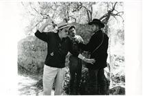 """<div>Luchino Visconti, Serge Reggiani e Burt Lancaster durante la lavorazione del film</div> <div><span style=""""font-size: 10pt;"""">Foto di Giovan Battista Poletto</span></div>"""