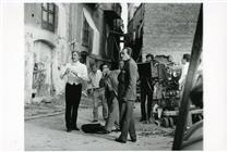 """<div>Burt Lancaster, Giuseppe Rotunno e Luchino Visconti durante la lavorazione del film</div> <div><span style=""""font-size: 10pt;"""">Foto di Giovan Battista Poletto</span></div>"""