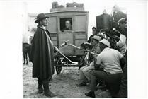 """<div>Burt Lancaster, Leslie French e Luchino Visconti durante la lavorazione del film</div> <div><span style=""""font-size: 10pt;"""">Foto di Giovan Battista Poletto</span></div>"""