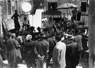 """<div>Tina Pica e Vittorio De Sica durante la lavorazione del film</div> <div><span style=""""font-size: 10pt;"""">Foto di Giovan Battista Poletto</span></div>"""