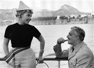 """<div>Yoka Berretty e Vittorio De Sica durante la lavorazione del film</div> <div><span style=""""font-size: 10pt;"""">Foto di Giovan Battista Poletto</span></div>"""