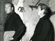 """<div>Broderick Crawford e Richard Basehart durante la lavorazione del film</div> <div><span style=""""font-size: 10pt;"""">Foto di Giovan Battista Poletto</span></div>"""