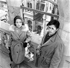 <div>Annie Girardot and Alain Delon</div> <div>Photo by Giovan Battista Poletto</div>