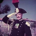 Vittorio De Sica durante la lavorazione del film