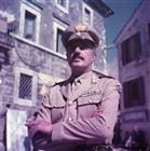 Vittorio De Sica durante lalavorazionedel film