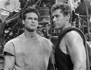 """<div><span style=""""font-size: 10pt;"""">Steve Reeves and Gordon Scott</span></div> <div><span style=""""font-size: 10pt;"""">Photo by Giovan Battista Poletto</span></div>"""