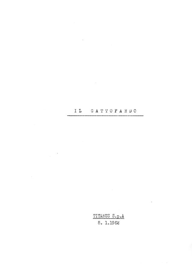 <div>Sceneggiatura del film scritta da Suso Cecchi d'Amico, Enrico Medioli, Pasquale Festa Campanile, Massimo Franciosa, Luchino Visconti.</div> <div><br /> </div> <div>Archivio Cecchi d'Amico. Per gentile concessione della famiglia d'Amico.</div>